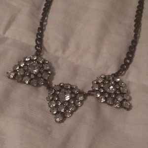 Diamond & Pewter Statement Necklace